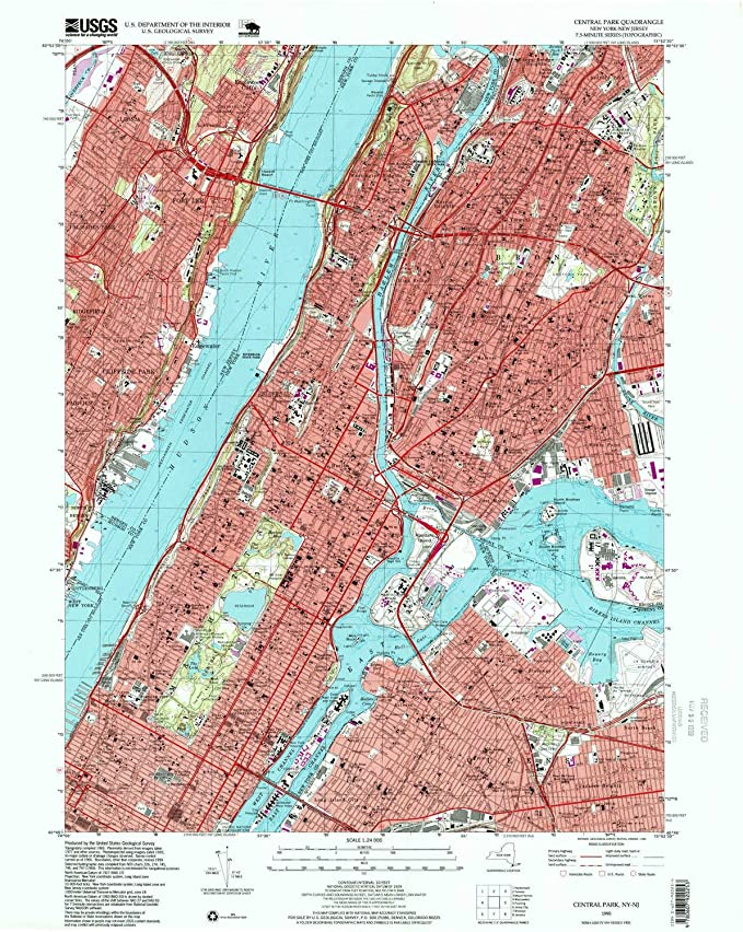 1:24000 Scale Updated 1988 1968 26.9 x 22 in Historical 7.5 X 7.5 Minute YellowMaps Lake Luzerne NY topo map