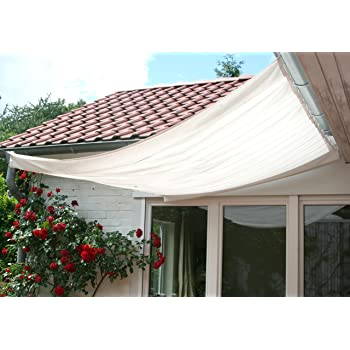 Floracord 04-77-03-18P - Vela de Sombra para Patio, Beige: Amazon ...