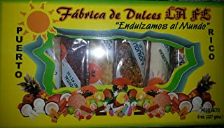 Assortment of Puerto Rican Candies By Fabrica De Dulces La Fe (8 Pieces) 1 Oz Each