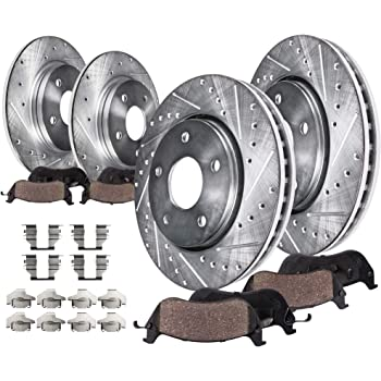 Max Brakes Front Premium Brake Kit KT041841 Fits: 2013 13 Nissan Altima Coupe S Models OE Series Rotors + Ceramic Pads