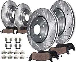 Detroit Axle - Complete FRONT & REAR DRILLED & SLOTTED Brake Rotors & Ceramic Brake Pads w/Hardware fits 2002 2003 2004 2005 Ford Explorer 4-Door Models Only & Mercury Mountaineer
