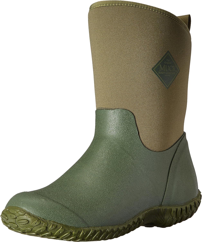 Muckster ll Mid-Height Women's Rubber Garden Boots, Green w/ Floral Print Lining, 7 B US