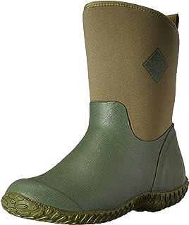 Muck Boot Muckster ll Mid-Height Women's Rubber Garden Boots, Green w/ Floral Print Lining, 8 B US