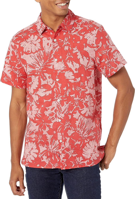 Perry Ellis Men's Short Sleeve L/C Tropical Floral Shirt