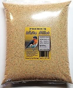Premium White Millet Proso Seed - Wild Bird - Wildlife Food (10-Pounds)