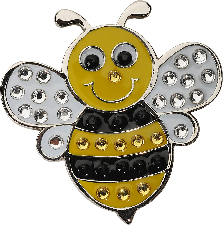 Navika Bumble Bee Swarovski Crystal Award-winning Max 61% OFF store with Ball Clip Hat Marker