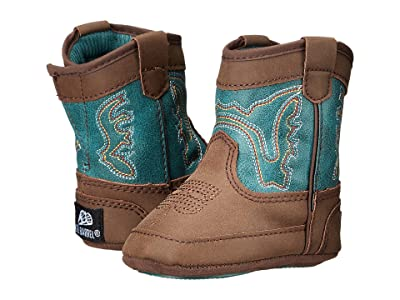 M&F Western Kids Bucker Open Range (Infant/Toddler) (Brown/Turquoise) Boys Shoes
