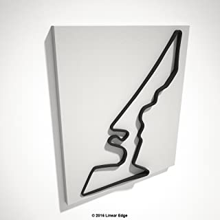 Linear Edge Circuit of The Americas 3D Track Sculpture (Black Track - White Canvas)