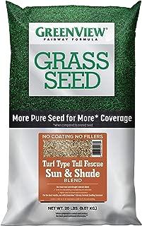 GreenView 2829348 Fairway Formula Grass Seed Turf Type Tall Fescue Sun & Shade Blend, 20 lb.