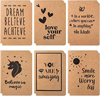 Cute Small Notebooks - 12 Pack Lined Notebook - Kraft Notebook - Pocket Journal - Beautiful Small Notebooks With 6 Joyful Designs - Small Writing Notebooks, A6 Notebook - 80 Pages - 4.1 x 5.8 Inches