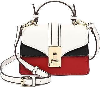 Scarleton Mini Top Handle Satchel Handbag for Women, Vegan Leather 3 Compartment Crossbody Bag, Shoulder Purse, H2077