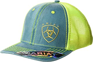ARIAT Women's Offset Logo Mesh Snap Cap