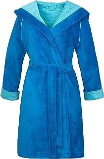 L/&L 9133 Accappatoio a Manica Lunga Morbido da Donna con Asciugamano Estremamente Leggero Vestaglia a Maniche Lunghe con Cappuccio per Donna.