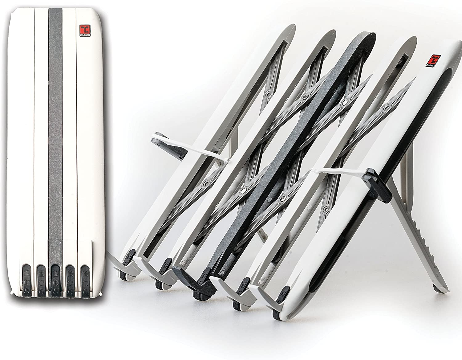 [New Release] Camino Folding &  Transforming  Multi-Purpose Stand for Books, Tablets, Laptops & Smartphones (White)