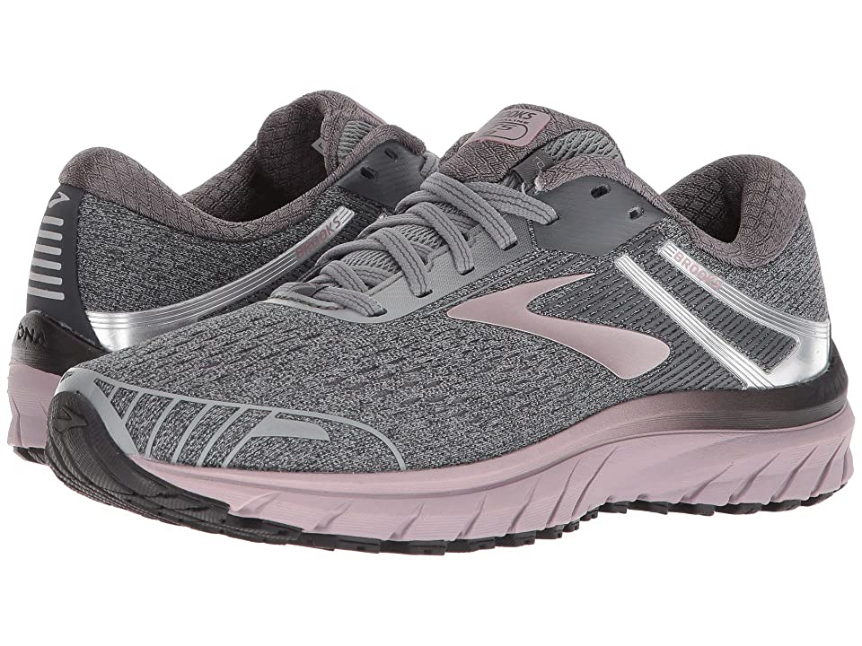 Brooks Adrenaline GTS 18 (Grey/Ebony/Rose Gold) Women