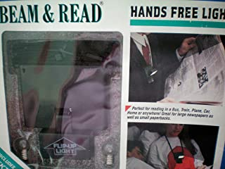 Hands Free Book Light; Hands Free Flash Light - Beam & Read [Uses 4 AA Batteries]