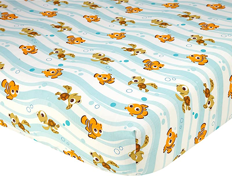 Disney Finding Nemo Crib Sheet Blue