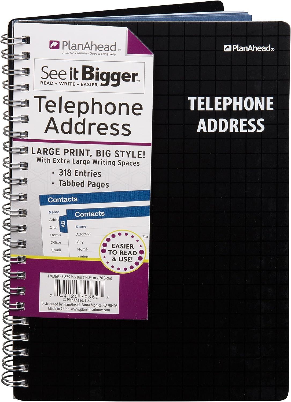 Plan Ahead Ahead Ahead siehe ES größer, Telefon Adressbuch, großer Print, Farben sortiert, Farbe kann variieren (70369 C) B008W2KRCE | Modernes Design  66066b