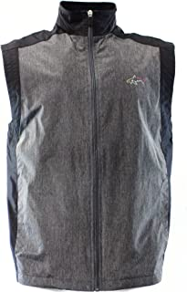 Greg Norman for Tasso Elba Pieced Fleece-Lined Vest, Black/Grey, Small
