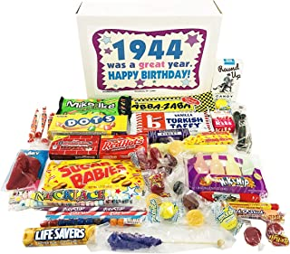 Woodstock Candy ~ 75th Birthday Gift Box of Nostalgic Retro Candy from Childhood for 75 Year Old Man or Woman Born 1944 Jr