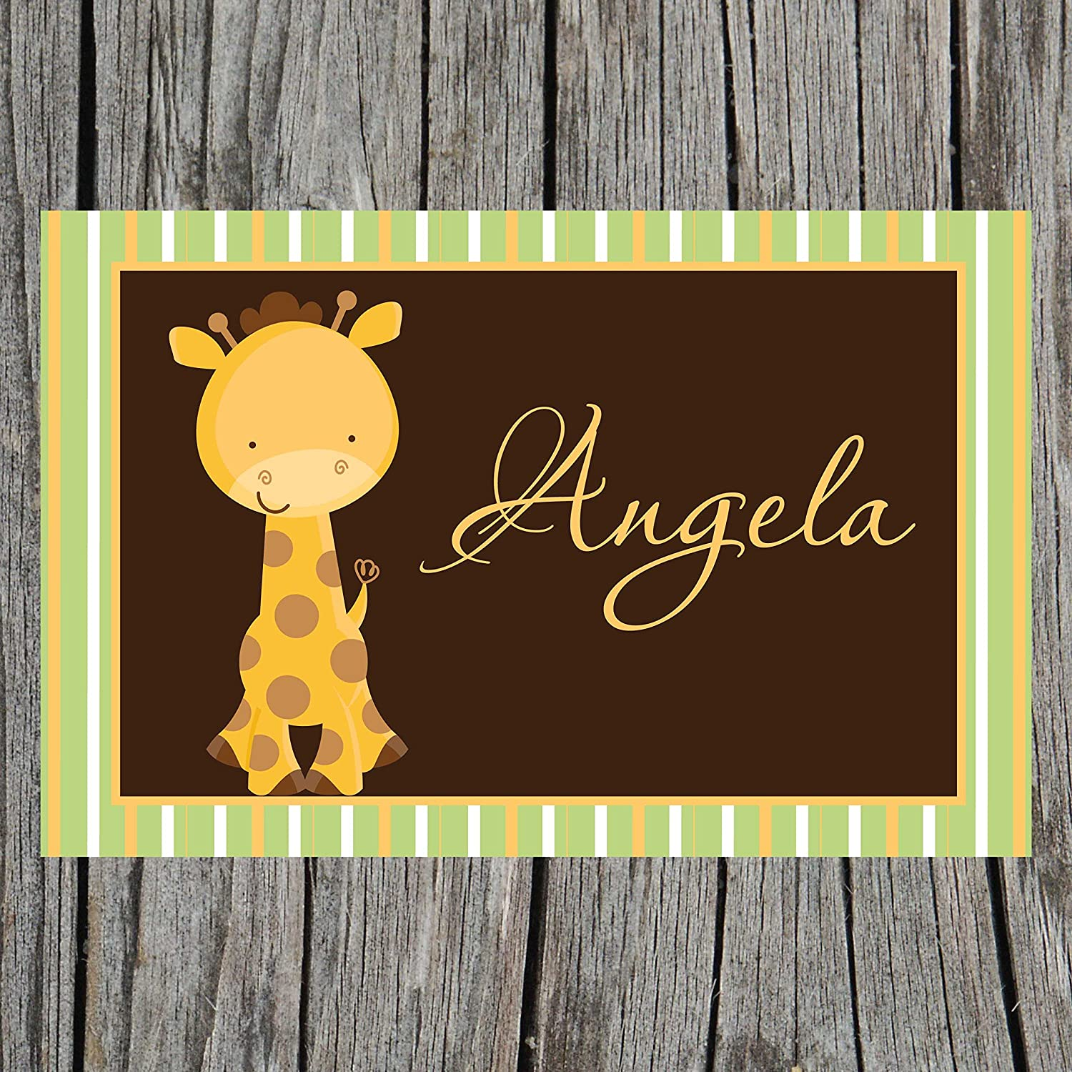 Striped Giraffe Personalized Kids for Placemat Over Selling rankings item handling