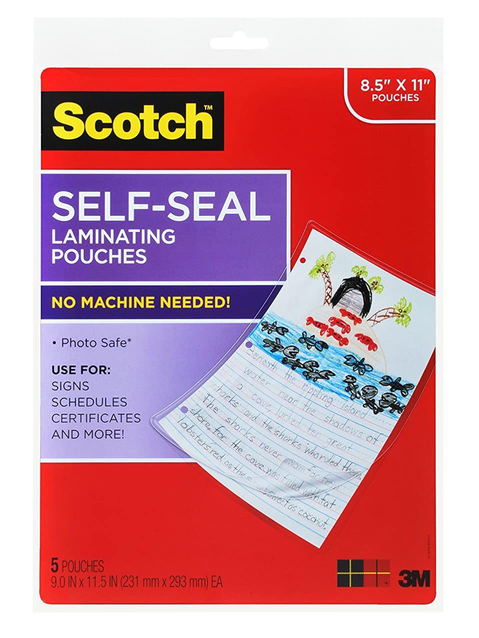 Scotch Laminating Sheets, Gloss Finish (LS854-5G)