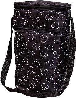 J.L. Childress Disney Baby 6-Bottle Cooler Breastmilk Cooler, Day Care & Lunch Bag for Baby Food & Bottles, Mickey Black