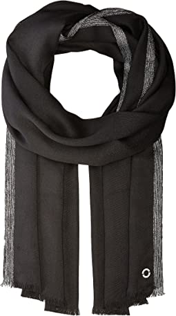 Calvin Klein - Satin Pashmina with Lurex Border