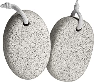 Pumice Stone for Feet (2-Pack) - Premium Callus Remover for Feet and Hands - Pedicure Tools, Exfoliation to Remove Dead Skin - Natural Foot File Scrubber