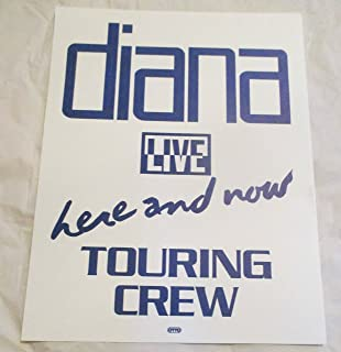 1980's Diana Ross Live Here and Now Backstage Door Sign Touring Crew