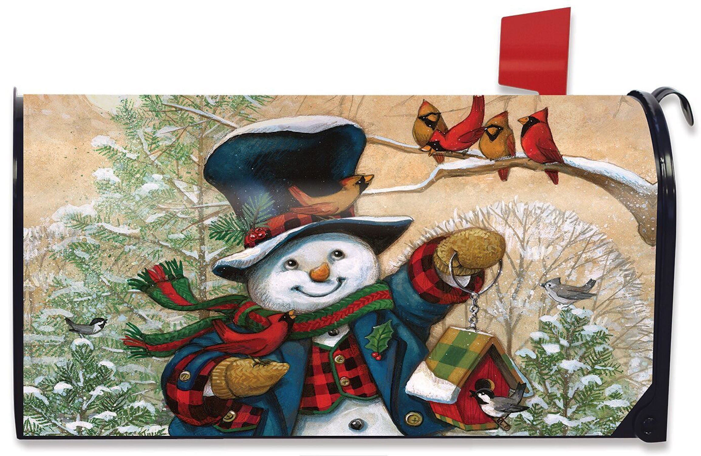 Image of Magnetic Snowman Mailbox Cover