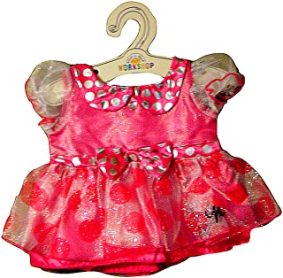 Build a Bear Minnie Mouse Signature Pink Polka Dot Party Dress Teddy Doll Size Outfit
