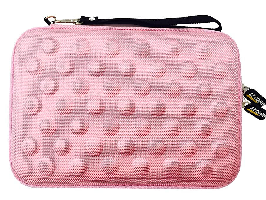 AZ-Cover 7-Inch Tablet Semi-rigid EVA Bubble Foam Case (Light Pink) With Wrist Strap For LG G Pad V410 AT&T GSM Unlocked 7-Inch 4G LTE Tablet + One Capacitive Stylus Pen