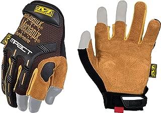 leather fingerless work gloves