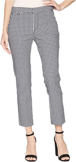 Gingham Skinny Stretch Pants