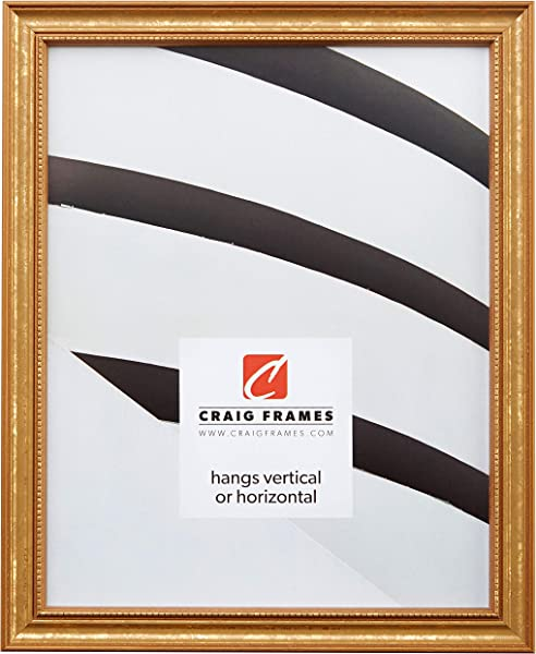 Craig Frames 314GD 24 X 36 Inch Poster Frame Solid Wood 0 75 Inch Wide Gold