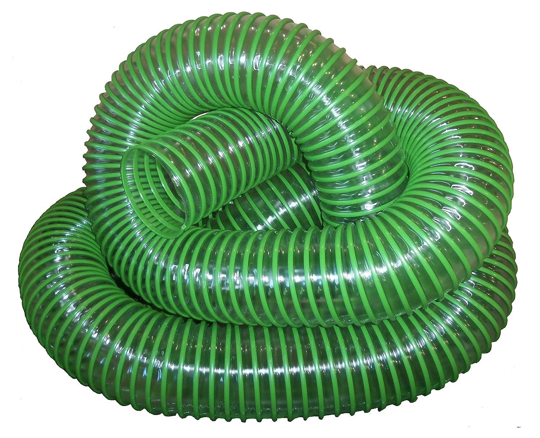 """Green Leaf Vacuum Collection Yard Hose (6 Inch ID)   Clear Urethane .030"""" Wall (Cut Length) (6x8): Industrial & Scientific"""