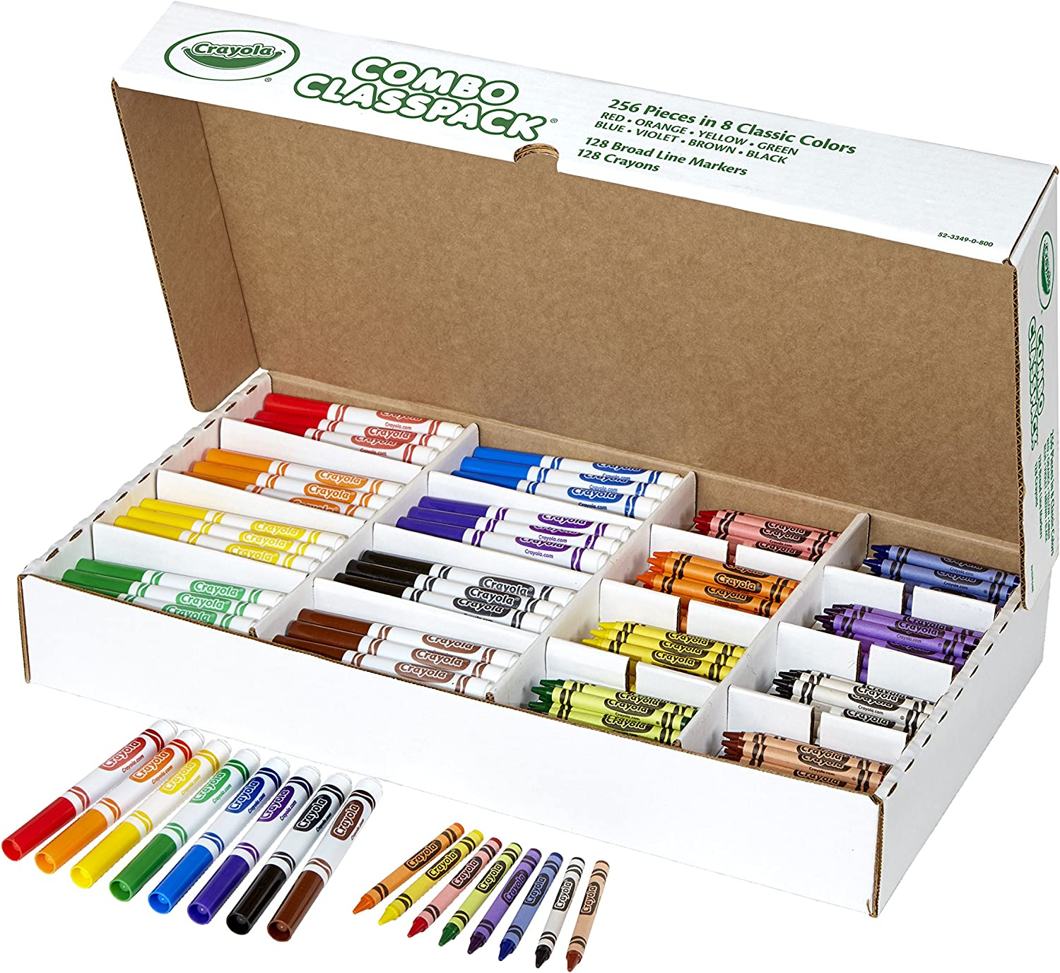 Crayola Bulk Markers and Max 55% OFF Classpack Sale Special Price 256 Count Crayons