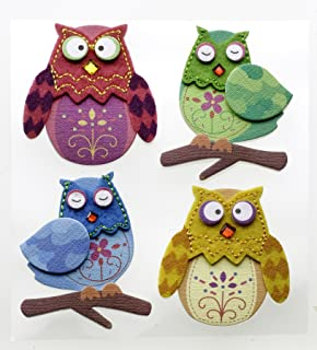 Jolee's Boutique Dimensional Stickers, Stitched Owls