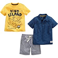 Toddler Boys' 3-Piece Polo, Tee, and Shorts Playwear Set