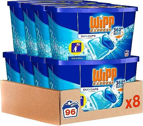 Wipp Express Detergente en Cápsulas 12 Lavados, Pack de 8, Total: 96 Lavados