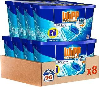 Wipp Express Detergente en Cápsulas 12 Lavados, Pack de 8,