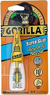 Gorilla Super Glue with Brush & Nozzle Applicator, 12 Gram, Clear