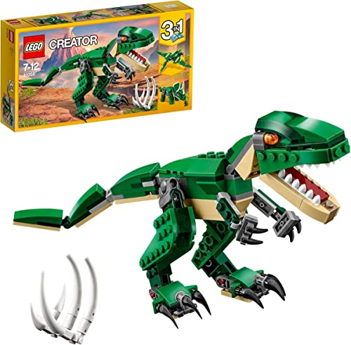 LEGO 31058 Creator 3en1 Grandes Dinosaurios, T. Rex, Triceratops o Pterodáctilo, Juguete de Construcción para Niños y...