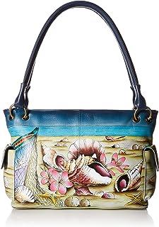 Women's Genuine Leather Small Shoulder Bag | Hand Painted Original Artwork