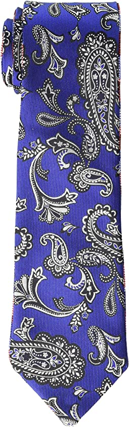 8 cm. Paisley/Plaid Double Face Tie