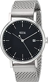 Vestal 'Sophisticate 36 Metal' Swiss Quartz Stainless Steel Dress Watch, Color Silver-Toned (Model: SP36M01.MSVM)