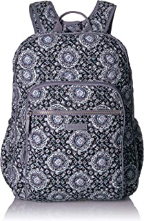 Iconic XL Campus Backpack, Signature Cotton, Charcoal Medall