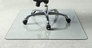 Lorell Tempered Glass Chair Mat, 36""