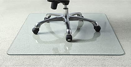 glass desk floor mats